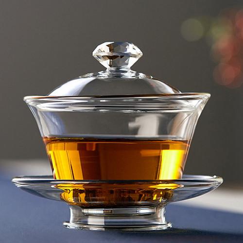 San Cai Glass Gongfu Tea Gaiwan Brewing Vessel