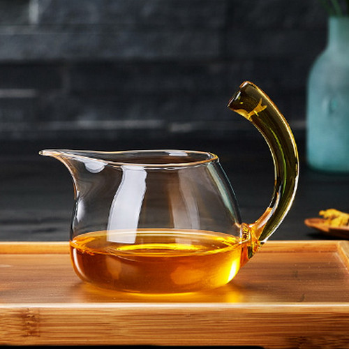 Qiao Ba Glass Fair Cup Of Tea Serving Pitcher Creamer 360ml
