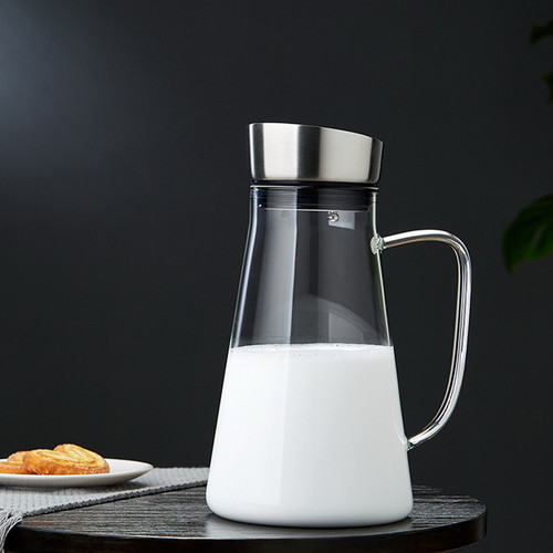 Qing Yun Water Carafe Heat Resistant Glass Pitcher For Homemade Beverage 2000ml
