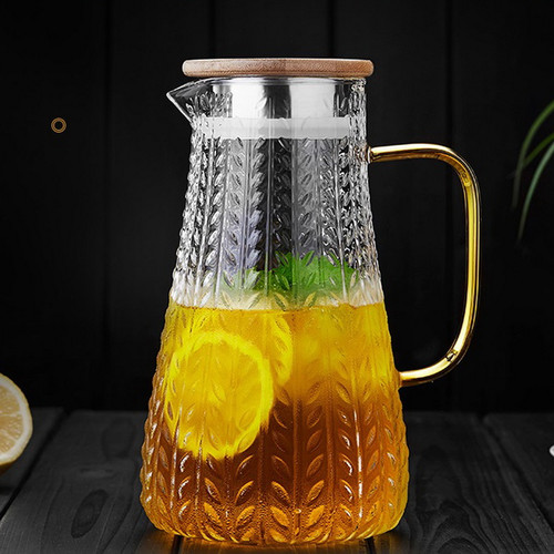Dao Sui Water Carafe Heat Resistant Glass Pitcher For Homemade Beverage 1500ml