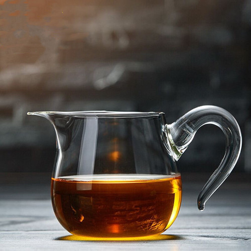 Long Wei Glass Fair Cup Of Tea Serving Pitcher Creamer 450ml