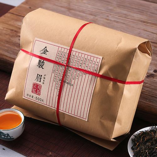 YANZHIYE Brand Jin Jun Mei Golden Eyebrow Wuyi Black Tea 500g