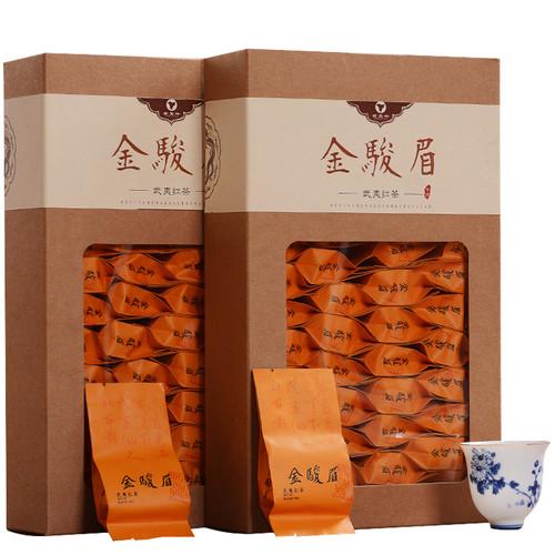 YANZHIYE Brand Hua Guo Mi Xiang Jin Jun Mei Golden Eyebrow Wuyi Black Tea 250g*2