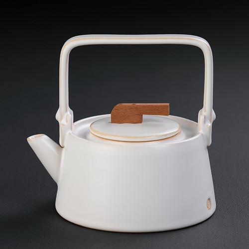 Yang Xin Hu White Ceramic Kettle for Gongfu Tea Ceremony 1000ml