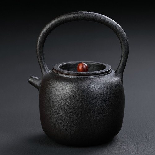 Shang Shui Hu Black Ceramic Kettle for Gongfu Tea Ceremony 1000ml