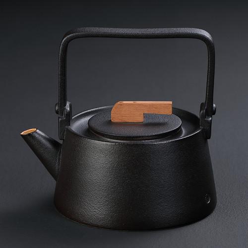 Yang Xin Hu Black Ceramic Kettle for Gongfu Tea Ceremony 1000ml