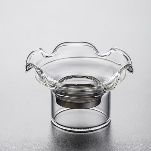 He Hua Transparent Glass Gongfu Tea Strainer