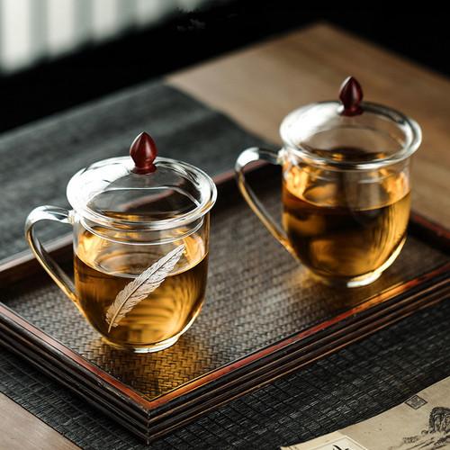 Qing Yu Glass Tea Mug 500ml