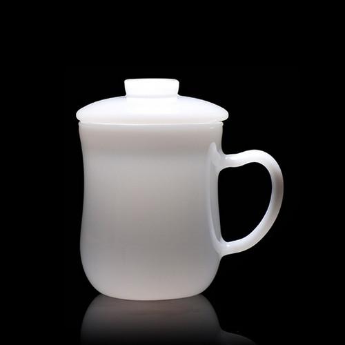 Jade Porcelain Glass Loose Leaf Tea Mug With Infuser 360ml