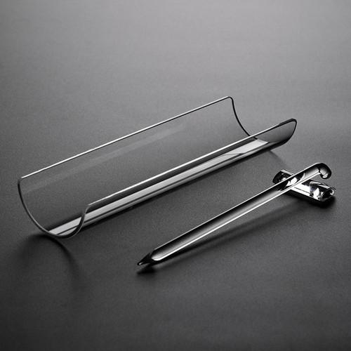 Crystal Glass Cha He Tea Presentation Vessel & Scoop Set