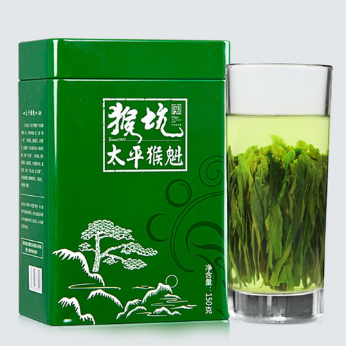 HONG KING TEA Brand Pinch Tip Yu Qian 1st Grade Tai Ping Hou Kui Monkey King Green Tea 150g