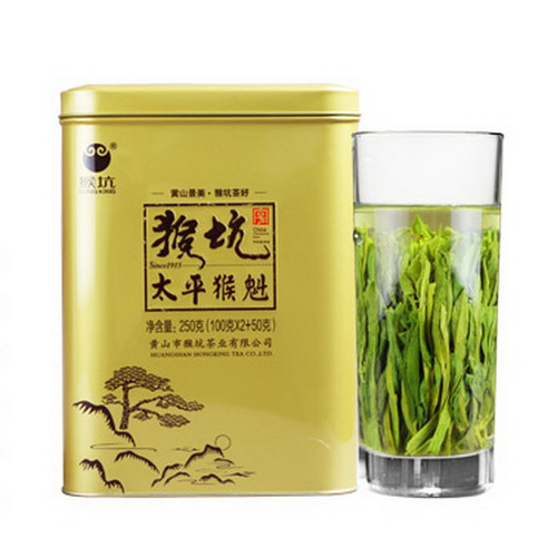 HONG KING TEA Brand 100 Yu Qian Premium Grade Tai Ping Hou Kui Monkey King Green Tea 250g