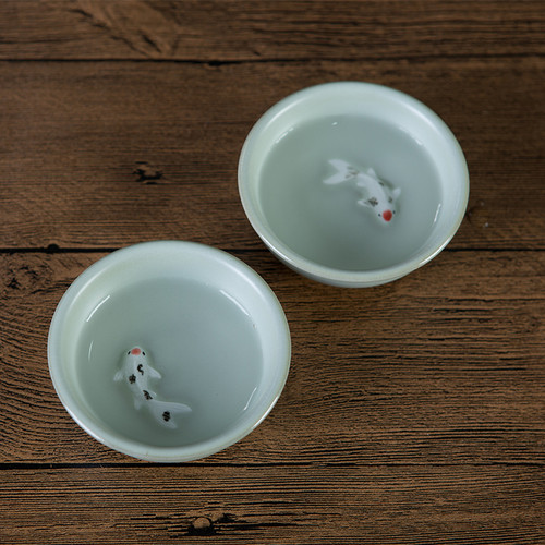 Fish Kiln Ice Cracked Glaze Ceramic Gongfu Tea Tasting Teacup