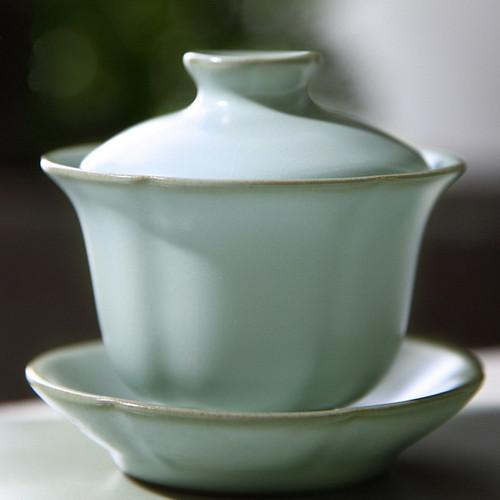 Qingxin Ice Cracked Glaze Ceramic Gongfu Tea Gaiwan Brewing Vessel 120ml