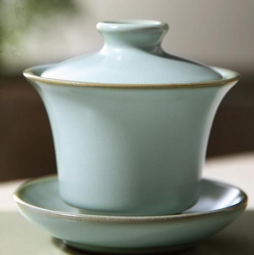 Zhi Xin Ice Cracked Glaze Ceramic Gongfu Tea Gaiwan Brewing Vessel 120ml
