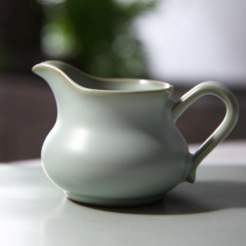 Retro Ice Cracked Glaze Ceramic Fair Cup Of Tea Serving Pitcher Creamer 170ml