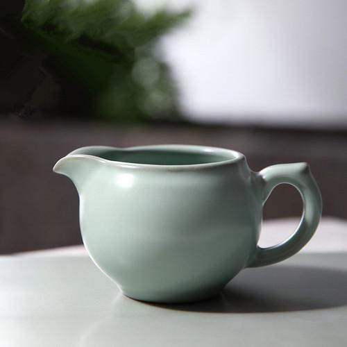 Retro Ice Cracked Glaze Ceramic Fair Cup Of Tea Serving Pitcher Creamer 200ml