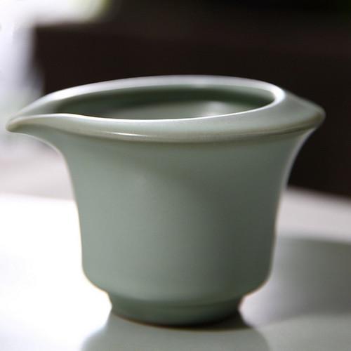 Retro Ice Cracked Glaze Ceramic Fair Cup Of Tea Serving Pitcher Creamer 140ml