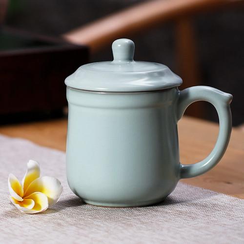 Qing Xin Zi Zai Ceramic Tea Mug with Lid 400ml