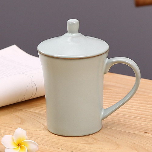 Zen Ceramic Tea Mug with Lid 350ml