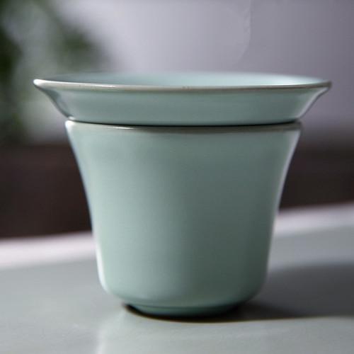 Big Small Strainer Ru Kiln Ceramic Gongfu Tea Strainer
