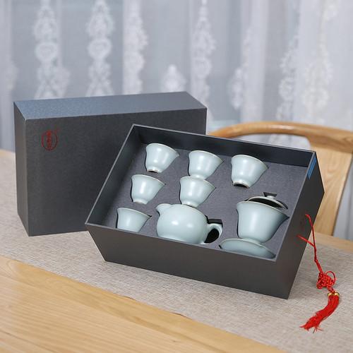 Mu Chun Ru Kiln Ceramic Kungfu Tea Teapot And Teacup Set