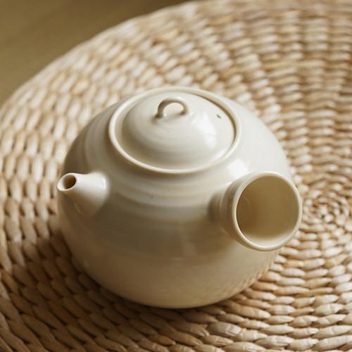 Ripple White Mud Ceramic Tea Water Kettle Boiler 560ml