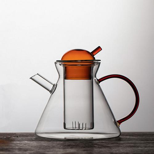 Amber Glass Chinese Kung Fu Tea Teapot 500ml