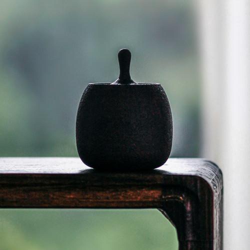 Fang Zhen Iron Rust Glaze Ceramic Food Container Tea Caddy