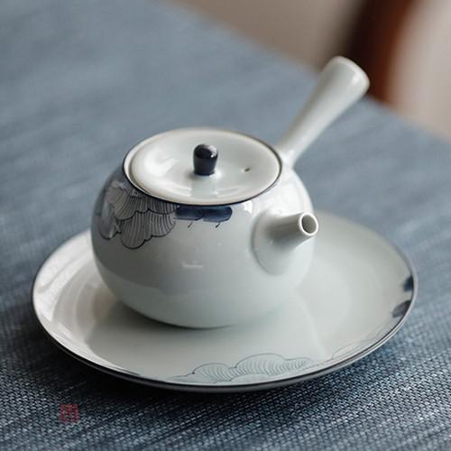 Hibiscus Water Storage Ceramic Tea Tray 140x140x25mm