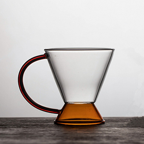 Amber Glass Tea Mug 180ml