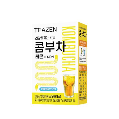 Teazen Kombucha Lemon Tea Probiotics Stick 5g X 10 Bags