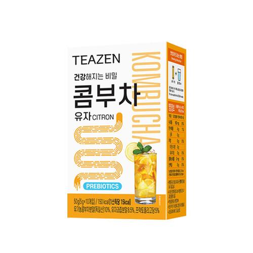 Teazen Kombucha Citrus Tea Probiotics Stick 5g X 10 Bags