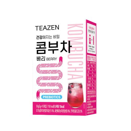 Teazen Kombucha Berry Tea Probiotics Stick 5g X 10 Bags