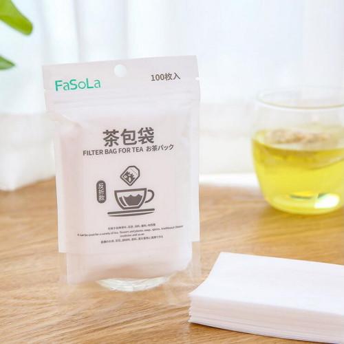100 Pcs Disposable Non-drawstring Paper Filter Bags for Loose Tea