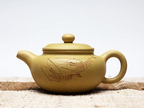 Handmade Yixing Zisha Clay Teapot Kehua 150ml