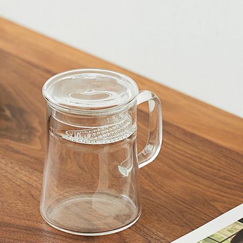 Heat Resistant Glass Tea Mug with Filter 400ml