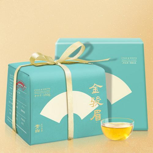 Luzhenghao Brand Qingbai Premium Grade Jin Jun Mei Golden Eyebrow Wuyi Black Tea 150g