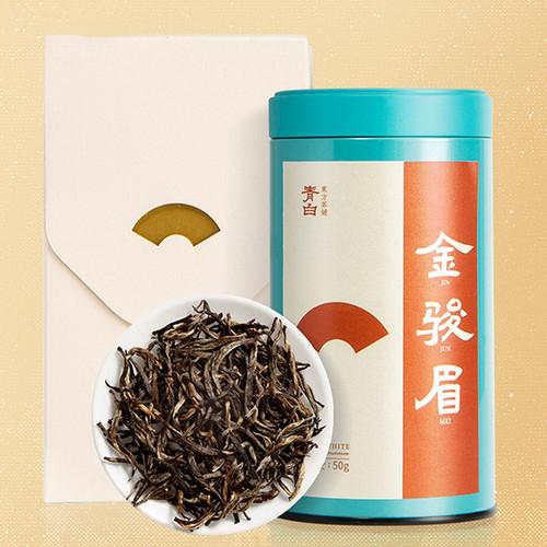 Luzhenghao Brand Qingbai Premium Grade Jin Jun Mei Golden Eyebrow Wuyi Black Tea 50g