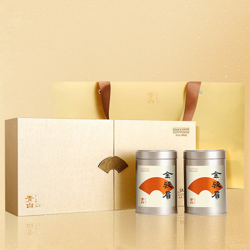 Luzhenghao Brand Qingbai High-end Premium Grade Jin Jun Mei Golden Eyebrow Wuyi Black Tea 90g