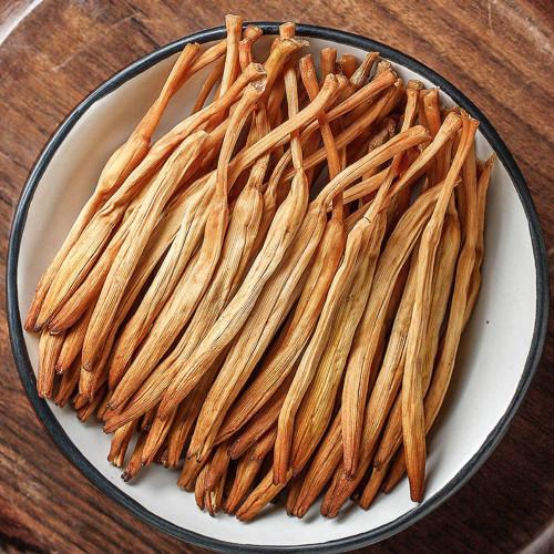 Organic Dried Daylily Golden Flower Buds Huang Hua Cai 500g