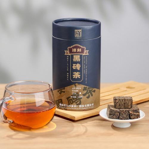 BAISHAXI Brand Qing Ke Black Brick Tea Hunan Anhua Dark Tea 150g Brick