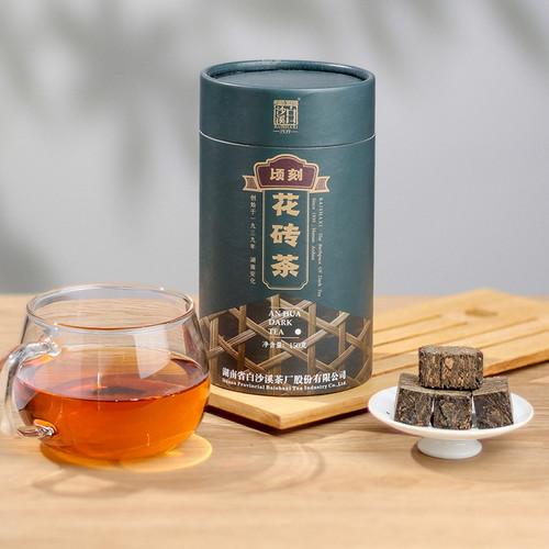 BAISHAXI Brand Qing Ke Flower Brick Tea Hunan Anhua Dark Tea 150g Brick