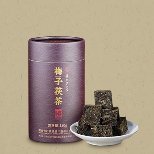 BAISHAXI Brand Mei Zi Fu Cha Anhua Golden Flowers Fucha Dark Tea 150g Brick