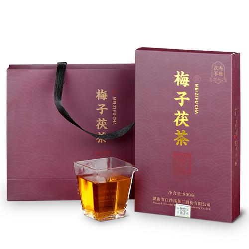 BAISHAXI Brand Mei Zi Fu Cha Anhua Golden Flowers Fucha Dark Tea 900g Brick