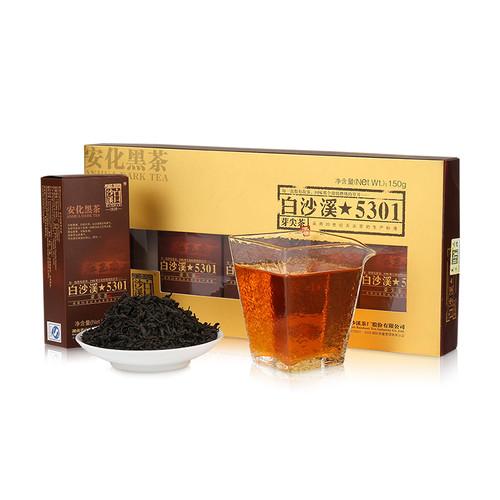 BAISHAXI Brand Bud Tip Tea Hunan Anhua Dark Tea 150g