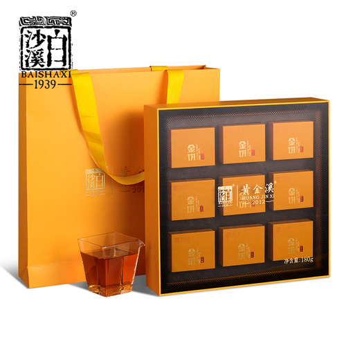 BAISHAXI Brand Huang Jin Xi Qianliang Anhua Dark Tea 180g Brick