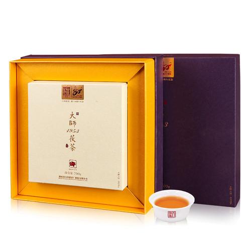 BAISHAXI Brand Master 1953 Fu Tea  Anhua Golden Flowers Fucha Dark Tea 700g Brick