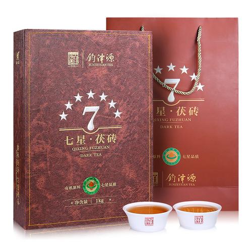 BAISHAXI Brand Seven Star Fu Brick Anhua Golden Flowers Fucha Dark Tea 1000g Brick