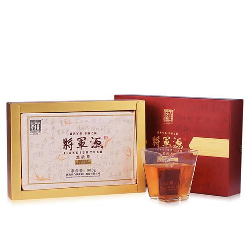 BAISHAXI Brand Jiang Jun Yuan Black Brick Tea Hunan Anhua Dark Tea 900g Brick